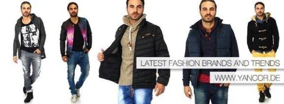 model präsentiert verschiedende styles von yancor