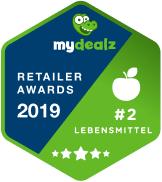 badge für mydealz retailer awards 2019 kategorie lebensmittel & haushalt für rewe
