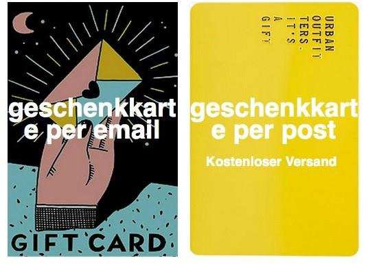 Geschenkkarte von UO