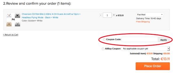 Gutscheincode bei allbuy.com einlösen