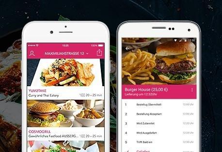 Die Foodora App für Android und iOS Geräte