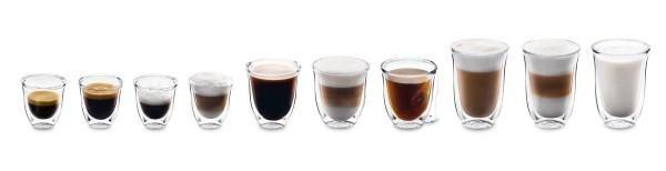 Verschiedene DeLonghi Kaffeesorten