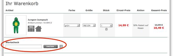 Gutscheincode bei NKD.de einlösen
