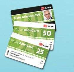 Bahncard 25, 50 und 100