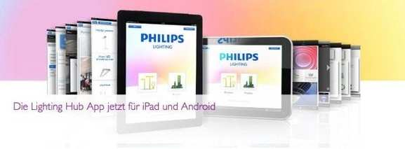 Philips Lighting Hub-App für iPad und Android