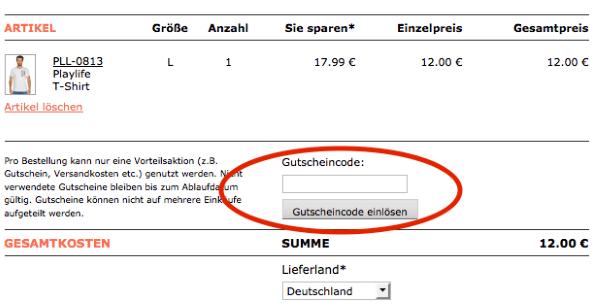 Gutschein von Dress-for-less.de einlösen