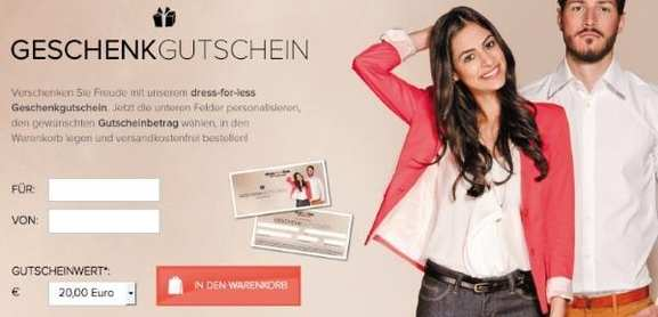 Geschenkgutscheine von dress-for-less.de