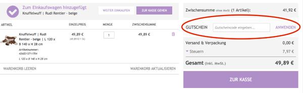 Gutschein beim Katzenland.de Online-Shop einlösen