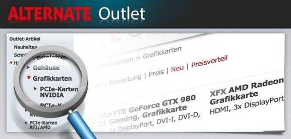 Das ALTERNATE Outlet bei ZackZack