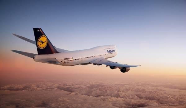 Lufthansa Flug in der Luft