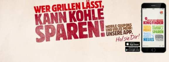 Die Burger King App mit Coupons