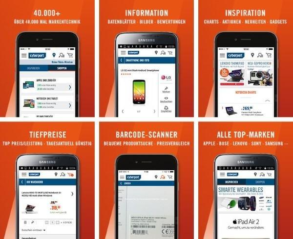 Die App für Android- und Apple-Geräte