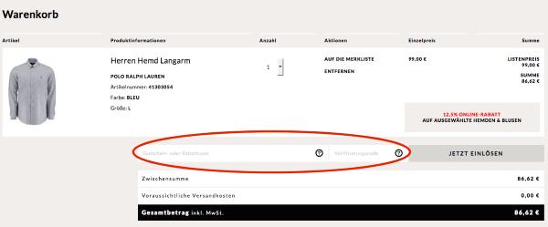 Gutscheincode bei Engelhorn.de einlösen