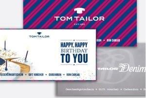 TOM TAILOR Online Gutscheine