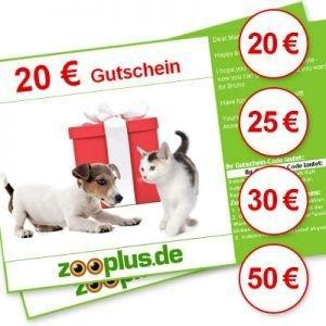 Zooplus 20 bis 50 Euro Gutschein