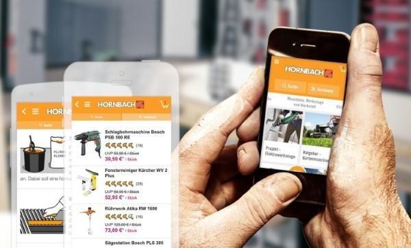 Die Hornbach App für iOS und Android