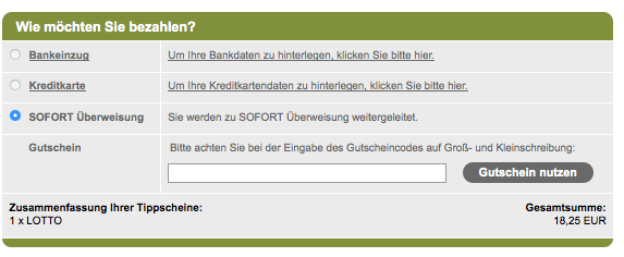Gutschein bei Tipp24.com einlösen