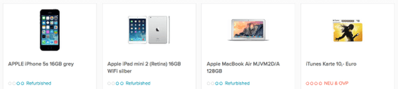 Refurbished Apple Produkte