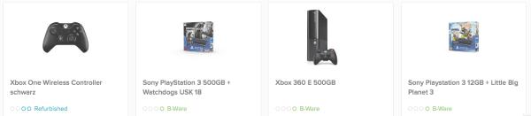 Xbox und PS4 Angebote als B-Ware
