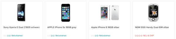 Beliebte Smartphones im Sortiment