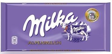 Die Milka Schokolade - Alpenmilch