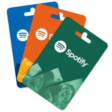 Geschenkkarten von Spotify