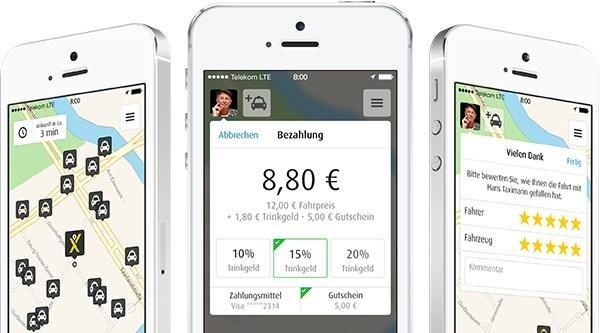 mytaxi app bezahlen