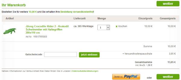 Gutschein beim GartenXXL Online-Shop einlösen