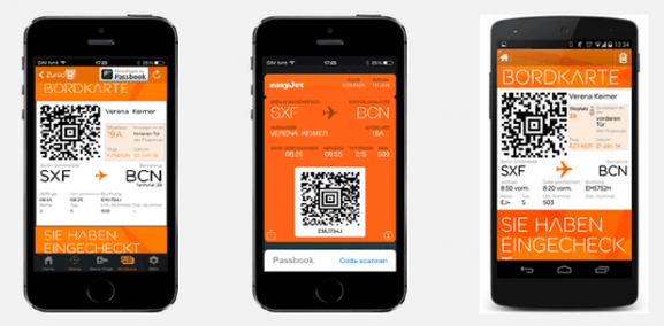 easyjet app bordkarte