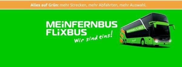 Fusion von Meinfernbus und FlixBus