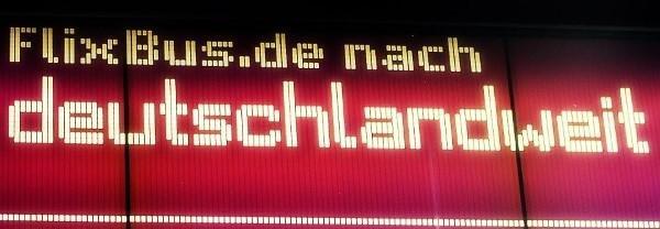 Deutschlandweite Fernbusstrecken