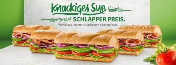 15 cm Sub bei Subway