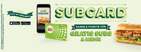 Subcard von Subway