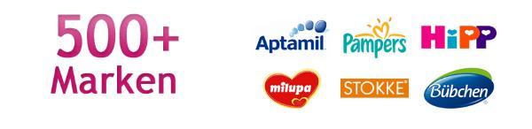 500 Marken wie Hipp, Pampers, STOKKE, Milupa und Aptamil