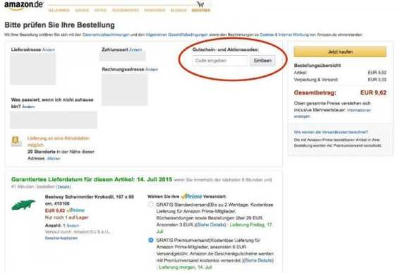 gutscheincode aktionscode amazon