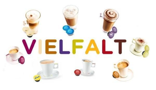 Verschiedene Kaffeesorten von Dolce Gusto