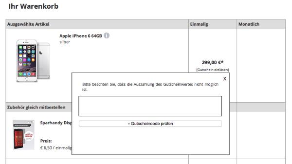 Gutscheincode bei Sparhandy.de einlösen