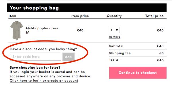 Gutschein im Monki Online-Shop einlösen