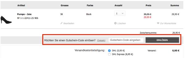 Gutscheincode bei Tamaris.de einlösen