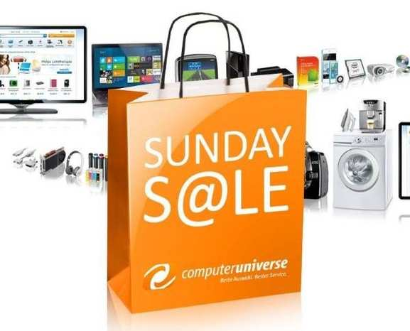 Sunday Sales von Computeruniverse.de