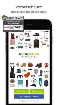 Die Shopping Club Apps von brands4friends
