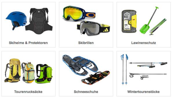 Wintersport Ausrüstungen