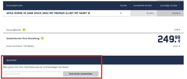 Gutschein bei Mobilcom-Debitel.de einlösen