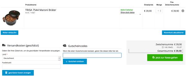 Gutschein im electronic4you Online-Shop einlösen