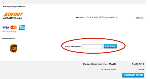 Gutscheincode bei EPSON.de einlösen