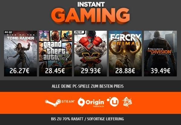 Reduzierte Spiele bei Instant Gaming
