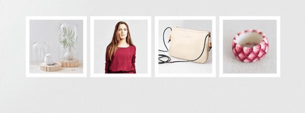 Modische Accessoirces wie Taschen, Pullover und Ringe