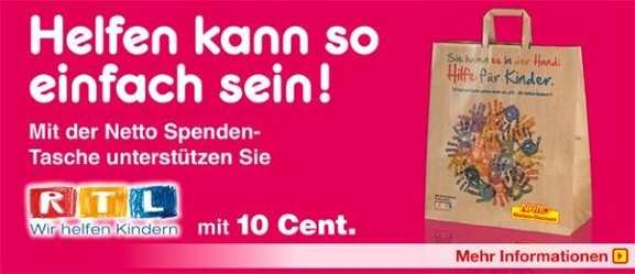 RTL und Netto Spendenaktion