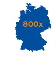 800 Filialen in Deutschland