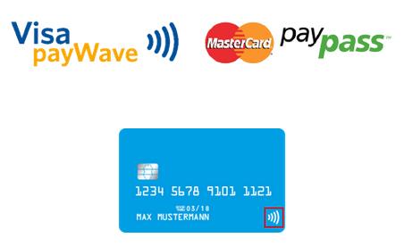 Visa payWave und MasterCard payPass - Kontaktlos bezahlen